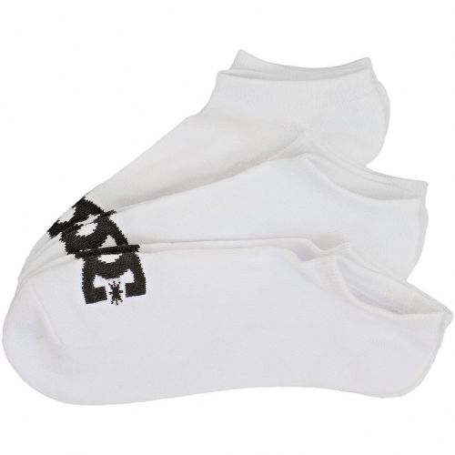 DC SHOES MENS SOCKS.NEW 3 PACK ANKLE WHITE TRAINER SPORTS SOCK UK 7-10 8W 151 WB
